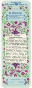Obituary for Jessie Cornelius Graham