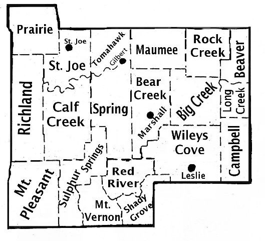 Searcy County Townships 1930