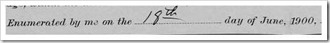Loye 1900 Enumeration Date