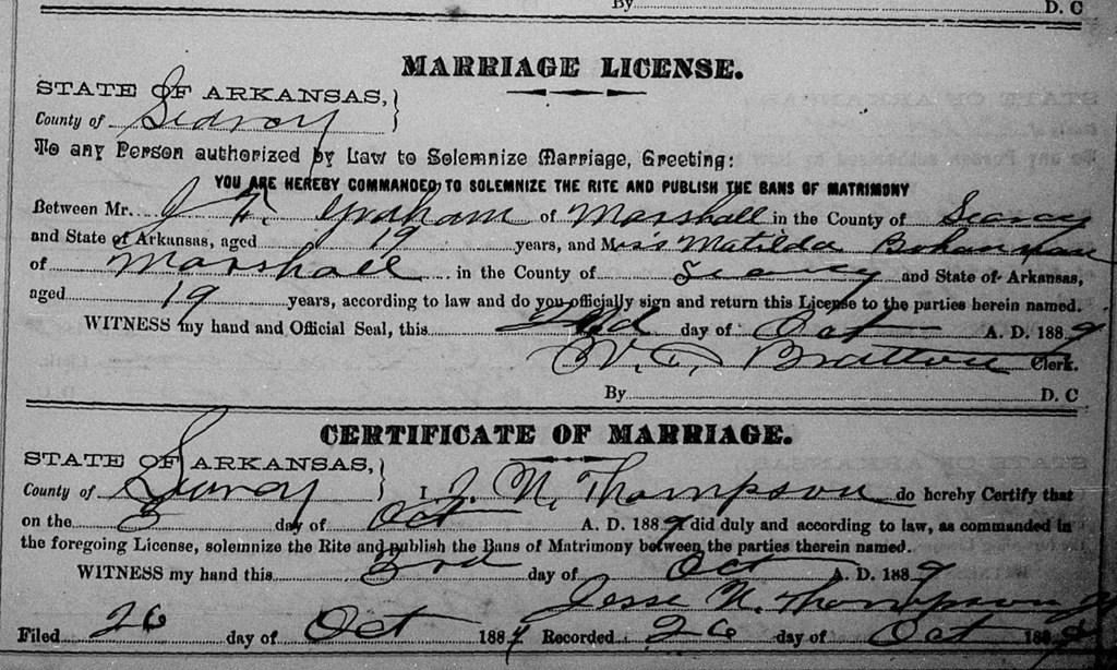 searcy county dating Arkansas marriage records at pubrecordscom march 11, 2018 especially from those documents dating back to prior to 1917 searcy county searcy county county.