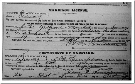 JHG Marriage License