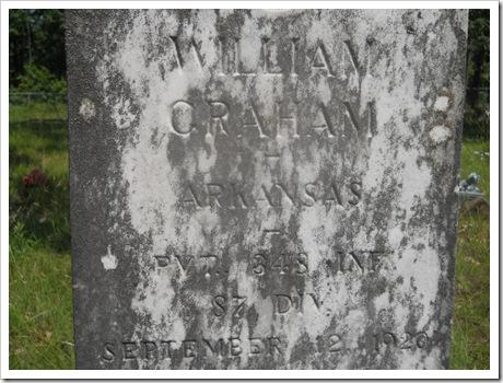 WTGraham Grave Marker