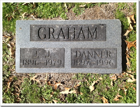 Grave Marker of John and Danner Graham