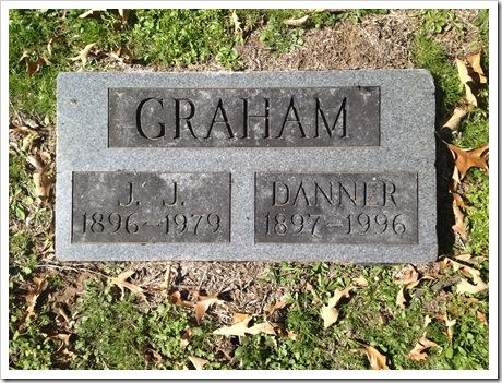 Grave Marker of John and Danner Graham