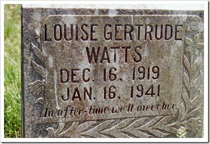 Louise Gertrude Watts.