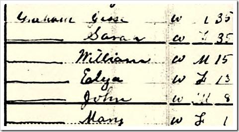 Jesse Graham 1880 Census