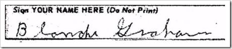 Blanche's signature.