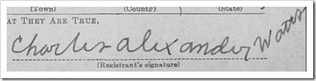 Charles' signature.