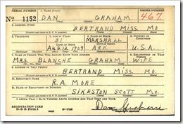 Dan Graham WW2  Draft Card Recto