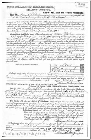 Patrick Bohannon Guardianship – Graham Ancestry