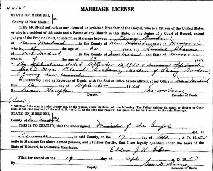 Leroy Marriage